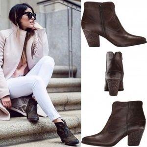 🥀FRYE Renee Leather Short Seam Bootie Sz 8